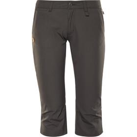 Fjällräven Abisko Pantalones Capri Mujer, dark grey